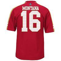 Men's Majestic San Francisco 49ers Joe Montana Hall of Fame Hashmark Player Top