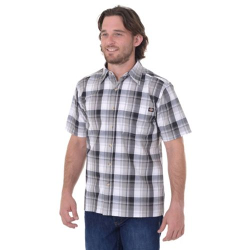 Men's Dickies Plaid Button-Dow...