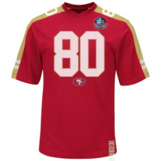 Men's Majestic San Francisco 49ers Jerry Rice Hall of Fame Hashmark Player Top