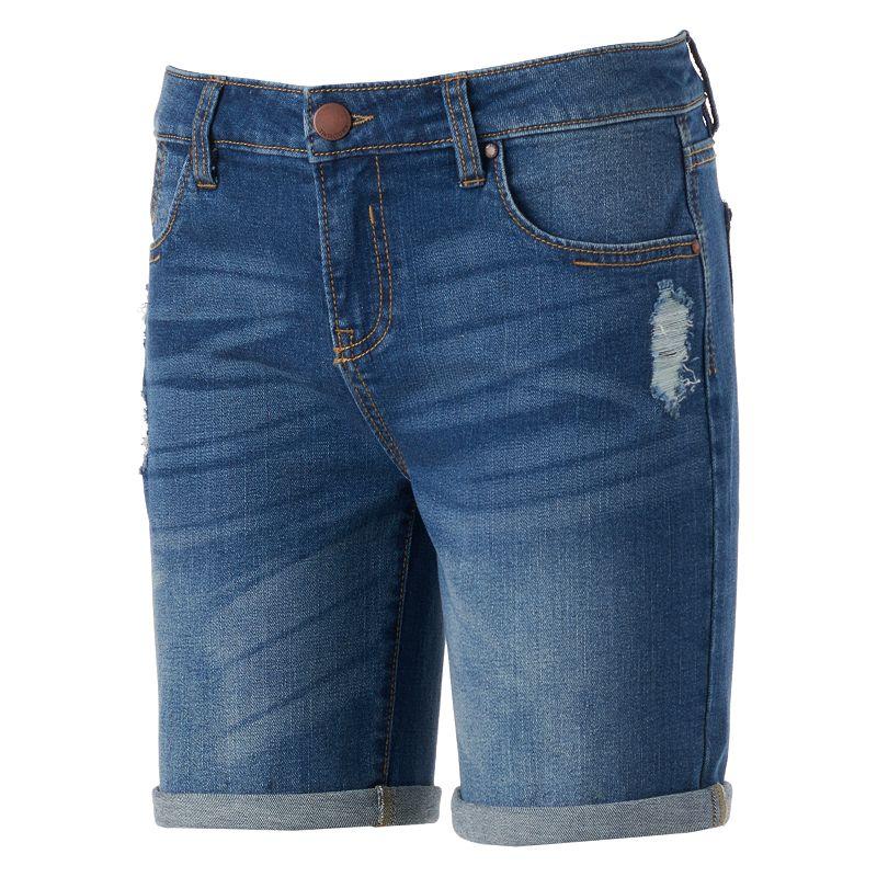 Tinseltown Roll-Cuff Bermuda Shorts - Juniors