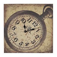 Sterling Clock Canvas Wall Art