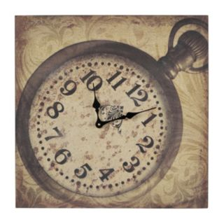 Sterling Clock Canvas Wall Art
