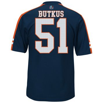 Men's Majestic Chicago Bears Dick Butkus Hall of Fame Hashmark Player Top