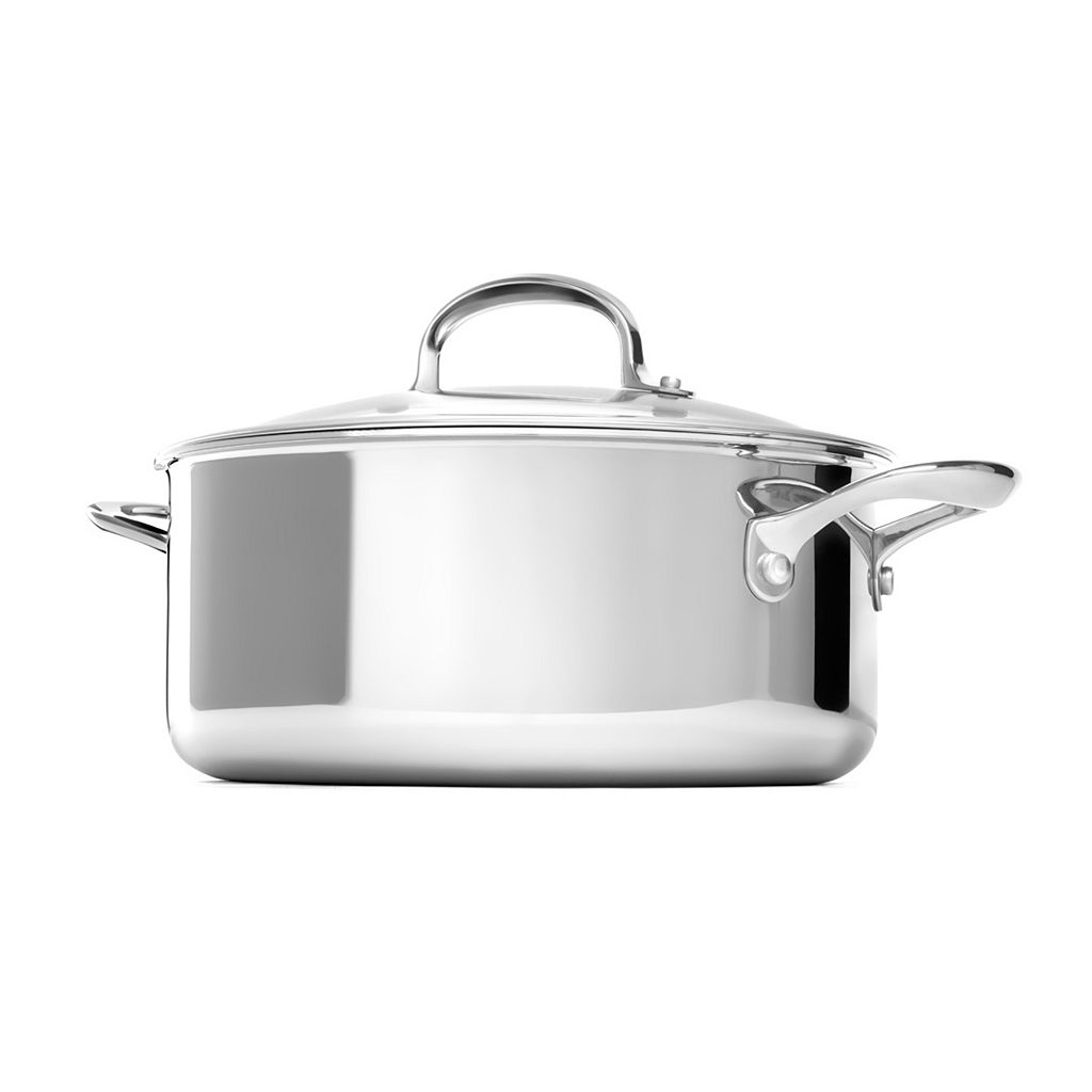 OXO Pro Tri-Ply Clad Stainless Steel 5-qt. Covered Dutch Oven