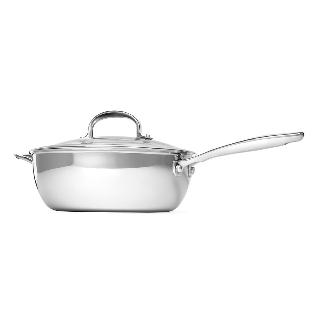 OXO Pro Tri-Ply Clad Stainless Steel 3.5-qt. Covered Saucepan
