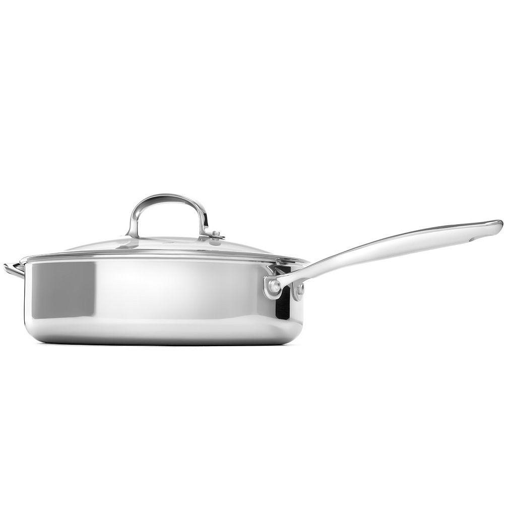 OXO Pro Tri-Ply Clad Stainless Steel 4-qt. Covered Saute Pan