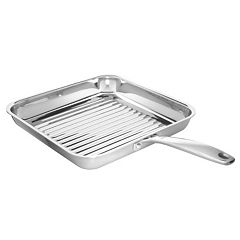OXO Pro Tri-Ply Clad Stainless Steel 11 in Square Grill Pan