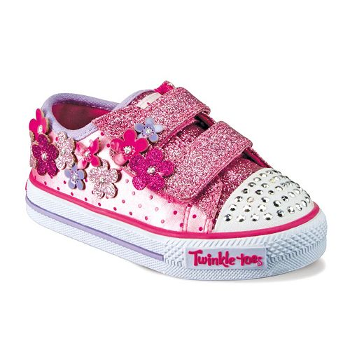 7b9138ae9e69 Skechers Twinkle Toes Pretty Blossom Toddler Girls  Light-Up Sneakers