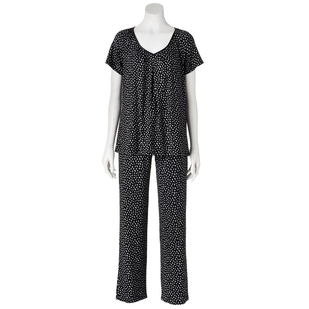Women's Apt. 9® Pajamas: Pleated Tee & Pants Pajama Set