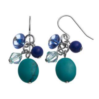 Chaps Bead Cluster Drop Earrings