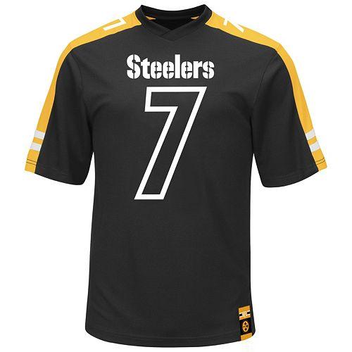 Men's Majestic Pittsburgh Steelers Ben Roethlisberger Hashmark Player Top