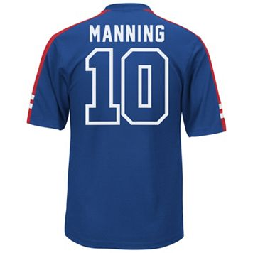 Men's Majestic New York Giants Eli Manning Hashmark Player Top