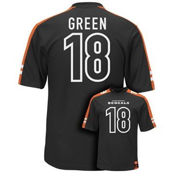 Men's Majestic Cincinnati Bengals AJ Green Hashmark Player Top