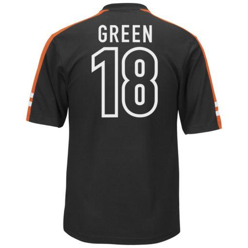 Men's Majestic Cincinnati Bengals AJ Green Hashmark Player Top