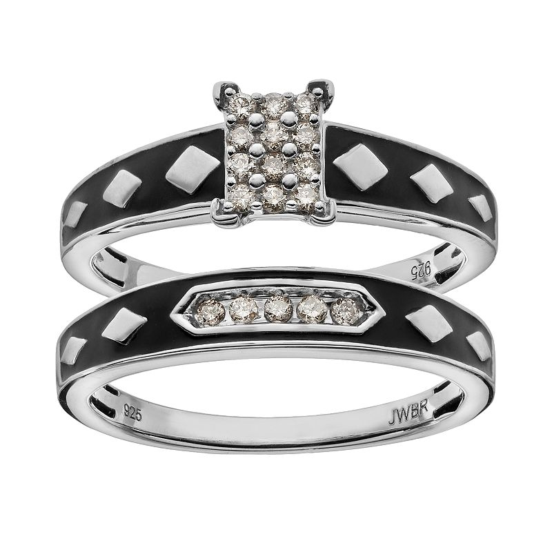 Always Yours Diamond Engagement Ring Set in Sterling Silver (1/5 Carat T.W.)