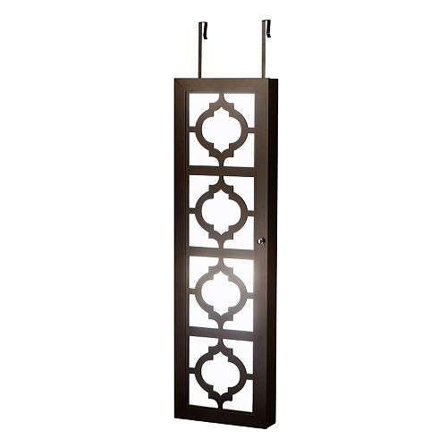 InnerSpace Designer Mirrored Jewelry Wall Armoire