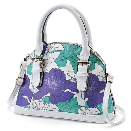 Under One Sky Floral Dome Mini Dome Convertible Satchel