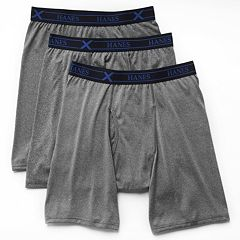 Big & Tall Hanes 3 pkUltimate X-Temp Longer Leg Boxer Briefs
