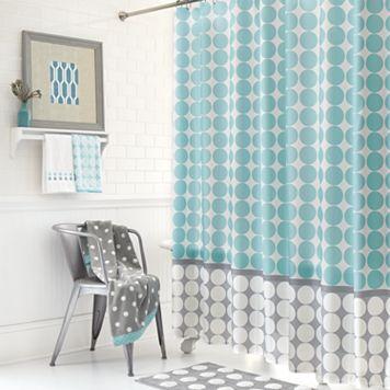 Mondrian Dot Fabric Shower Curtain