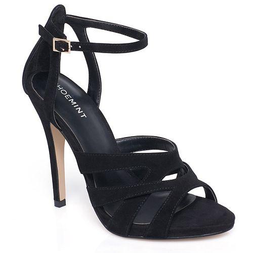 ShoeMint Ivie Women's Strappy Suede High Heels