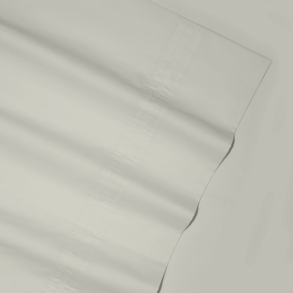 Solid 350-Thread Count Egyptian Cotton Percale Deep-Pocket Sheets