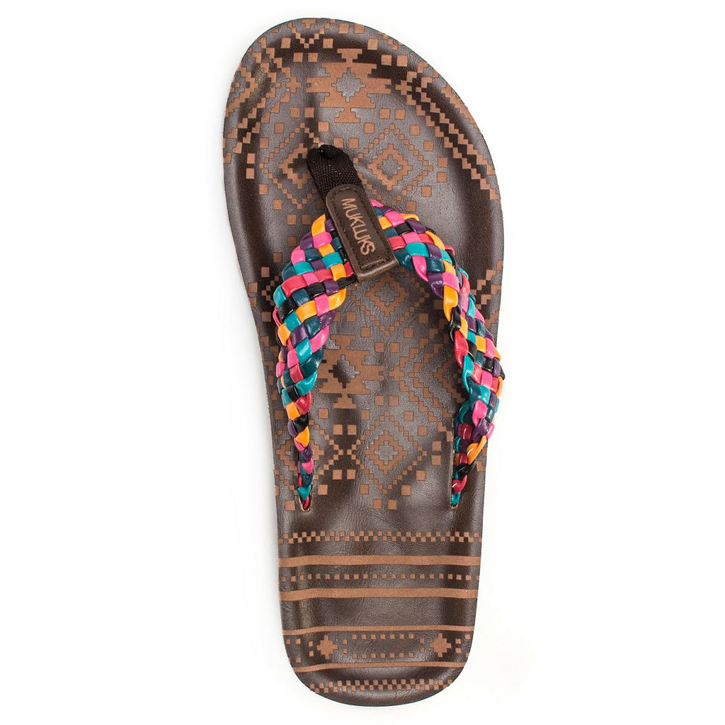 MUK LUKS Poppy Women's Braided Flip-Flops