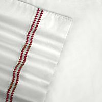 Embroidered Sateen 400-Thread Count Egyptian Cotton Deep-Pocket Sheets