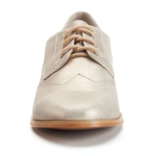 ShoeMint Kody Women's Casual Suede Oxford Shoes