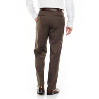 Big & Tall Van Heusen Ultimate Traveler Melange Straight Fit Flat Front Dress Pants