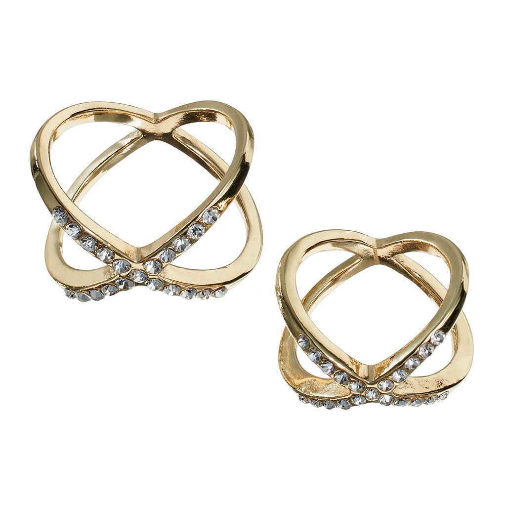 Jennifer Lopez Crisscross Midi Ring Set