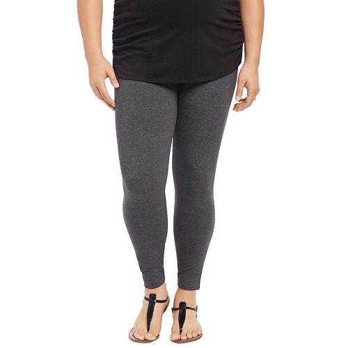 3d28e7925e174 Plus Size Maternity Oh Baby by Motherhood™ Secret Fit Belly™ Solid Leggings