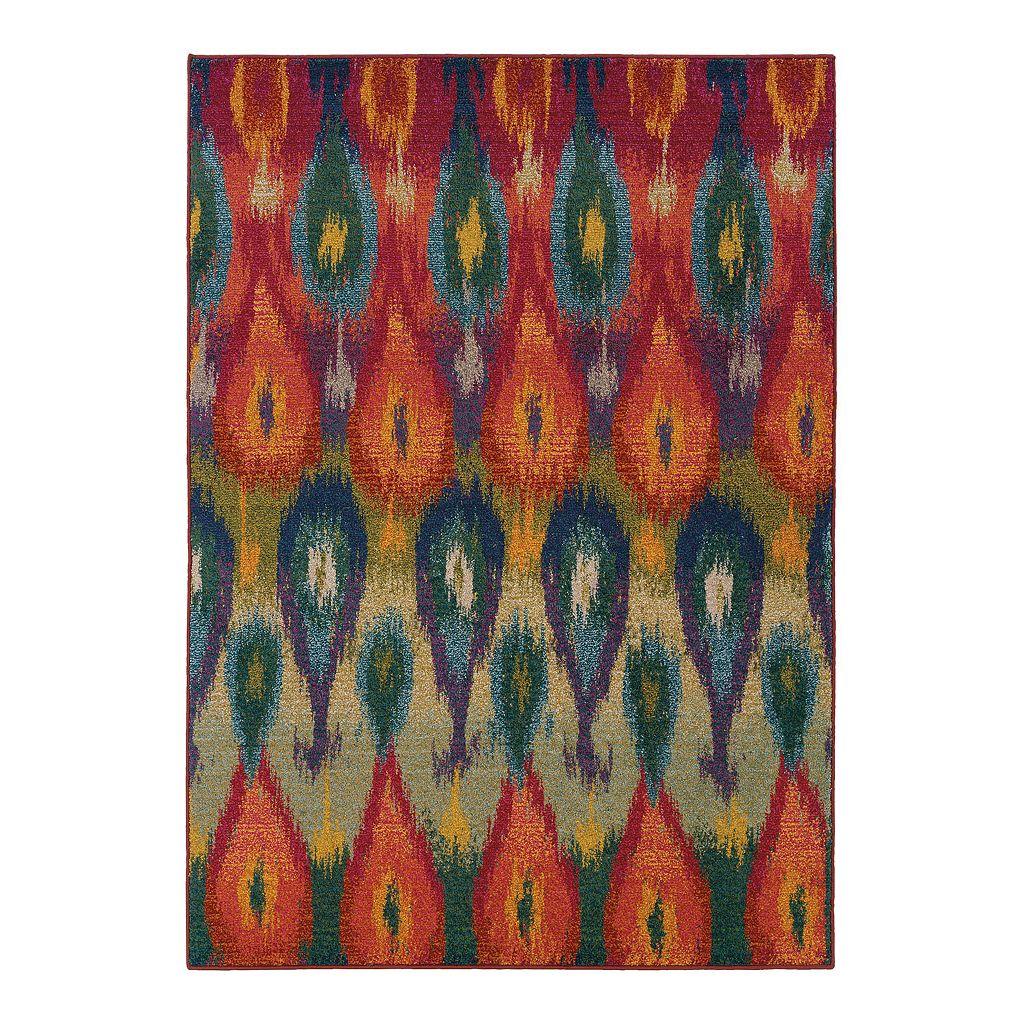 Oriental Weavers Kaleidoscope Abstract Teardrop Rug