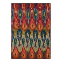 Oriental Weavers Kaleidoscope Abstract Teardrop Rug