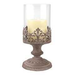 Stonebriar Collection Vintage Medium Hurricane Candleholder