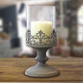 Stonebriar Collection Vintage Medium Hurricane Candleholder