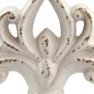 Stonebriar Collection Scroll Distressed Pedestal Decor