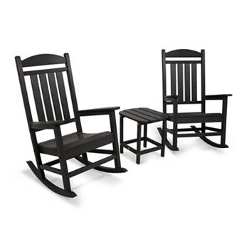 Prime Polywood 3 Piece Presidential Outdoor Rocking Chair Square Side Table Set Ocoug Best Dining Table And Chair Ideas Images Ocougorg
