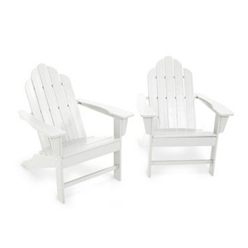 POLYWOOD® 2-piece Long Island Adirondack Outdoor Chair Set