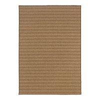 Oriental Weavers Karavia Striped Faux Sea Grass Indoor Outdoor Rug