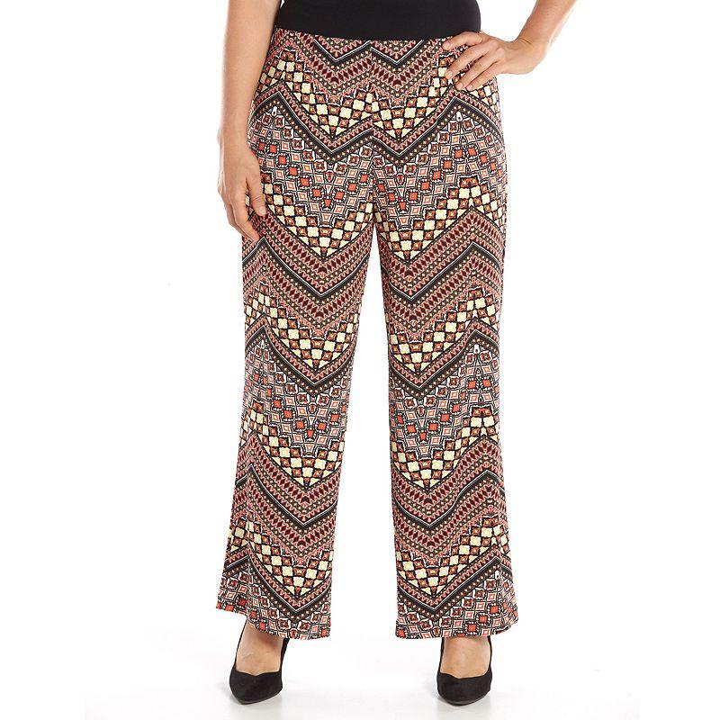AB Studio Ikat Maxi Skirt - Women's Plus Size (Blue)