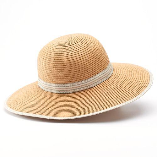 2d25ae0f723c6 Apt. 9® Striped Ribbon Floppy Hat
