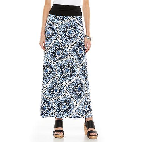 AB Studio Print Maxi Skirt - Women's