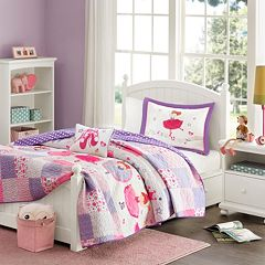 Mi Zone Kids Dancing Duchess Reversible Coverlet Set