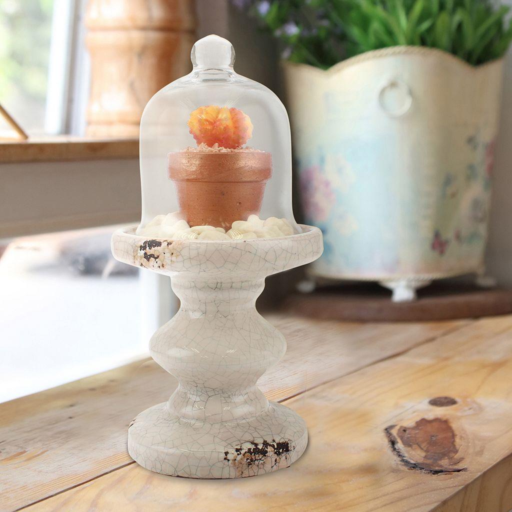 Stonebriar Collection Small Cloche Pedestal Decor