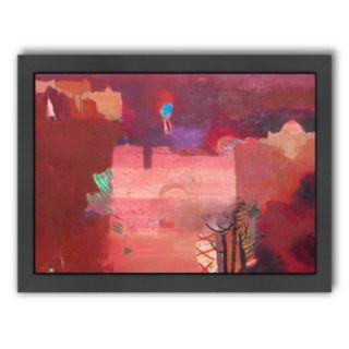 Americanflat ''The Pink Kasbah'' Framed Wall Art