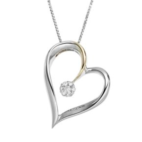 Wishes & Dreams by Leeza Gibbons Diamond Accent Sterling Silver & 10k Gold Two Tone Heart Pendant