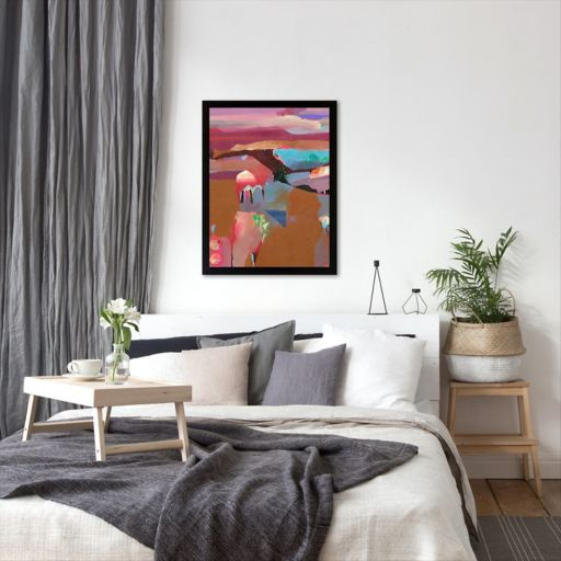 Americanflat ''Red Plateau'' Framed Wall Art