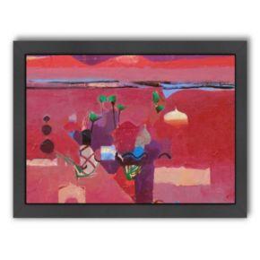 Americanflat ''Red Atlas'' Framed Wall Art