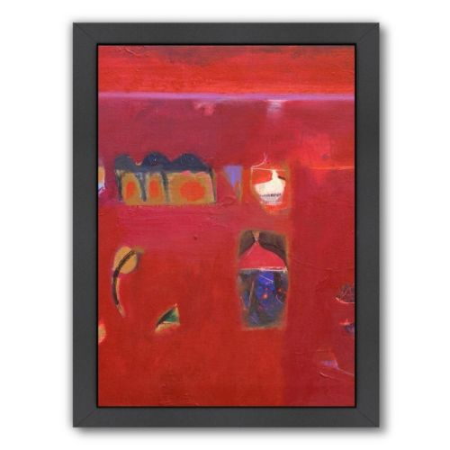 "Americanflat ""Rajasthan Reds II"" Framed Wall Art"