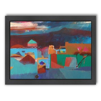 Americanflat ''Rain in the Atlas Mountains'' Framed Wall Art